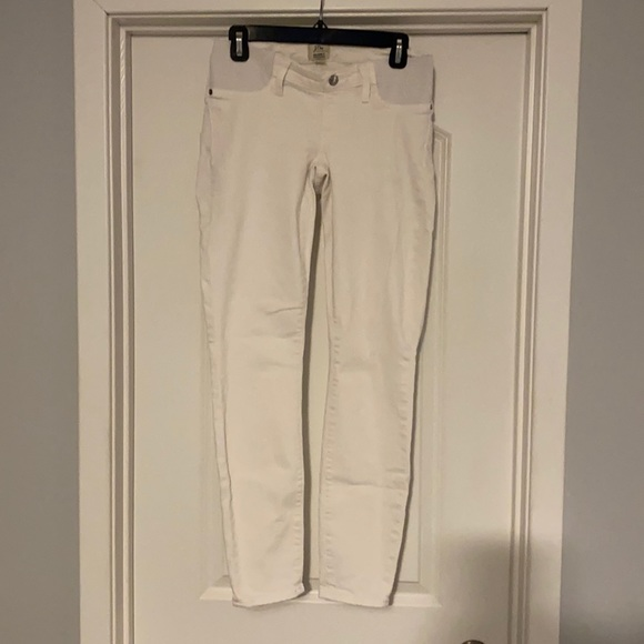 J. Crew Maternity White Denim Jeans
